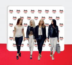10 ft x 8 ft Wall Box Fabric Display - Step and Repeat Event Backdrops