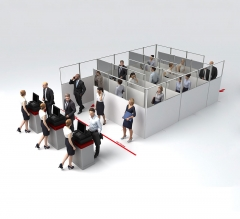 SEG Portable S Shape Queuing Panel