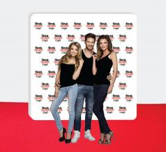8 ft x 10 ft Step and Repeat Wall Box Fabric Display