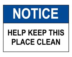 Keep Place Clean Sign