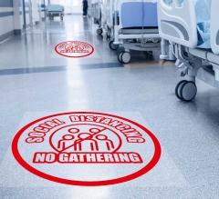 Social Distancing No Gathering Floor Decals