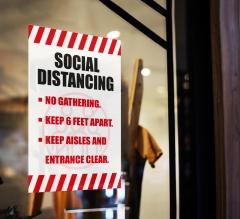 Social Distancing No Gathering Window Clings