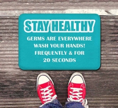 Stay Healthy Germs Everywhere Wash your Hands Indoor Floor Mats