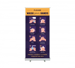 Please Wash your Hands Roll Up Banner Stands