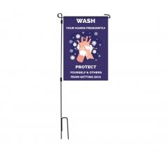 Please Wash your Hands Garden Flags
