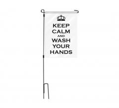 Notice Employees Must Wash Hands Garden Flags