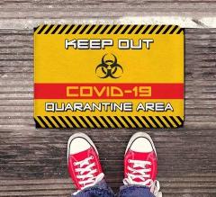Keep Out Covid-19 Quarantine Area Indoor Floor Mats