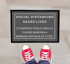Social Distancing Saves Lives Outdoor Floor Mats