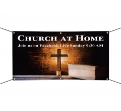Church at Home Join Us on Facebook Vinyl Banners