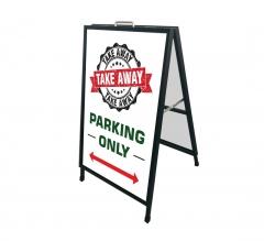 Take Away Parking Only Metal Frames
