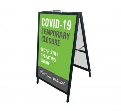 Covid-19 Temporary Closure Metal Frames