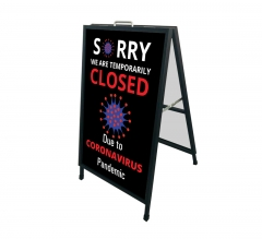 Sorry We are Temporarily Closed Metal Frames