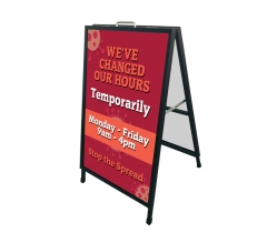 We have Changed our Hours Metal Frames