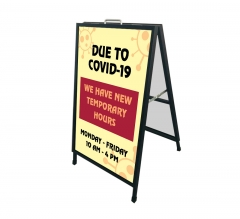 New Temporary Hours due to Covid-19 Metal Frames