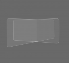 Restaurant Tabletop Desk Divider Sneeze Guard - Clear Acrylic (4 person)