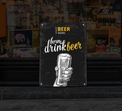 Reflective Beer Signs