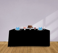 6' Convertible/Adjustable Table Covers - Black