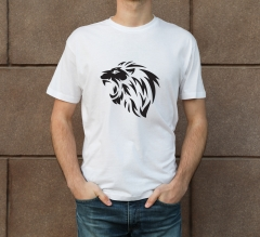 White Cotton Printed T-Shirt - Crew Neck