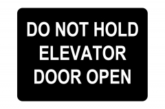 Elevator Doors Hazard Sign