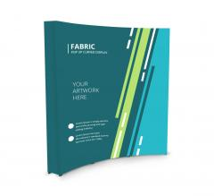 Fabric Pop Up Curved Media Wall