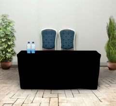 6' Fitted Table Covers - Black