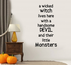 Halloween Wall Lettering