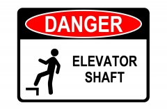 Elevator Shaft Sign