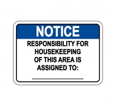 Responsible for Housekeeping Sign