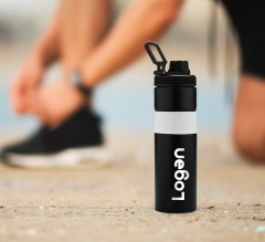 Personalised Gripo Stainless Steel Water Bottle with Silicon Band