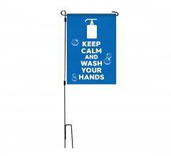 Precaution Garden Flags