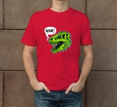 Custom Red Printed T-shirt - Crew Neck