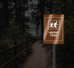 Reflective Custom Trail Markers Signs