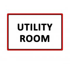 Utility Room Sign
