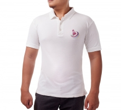 Custom White Polo Shirt - Embroidered