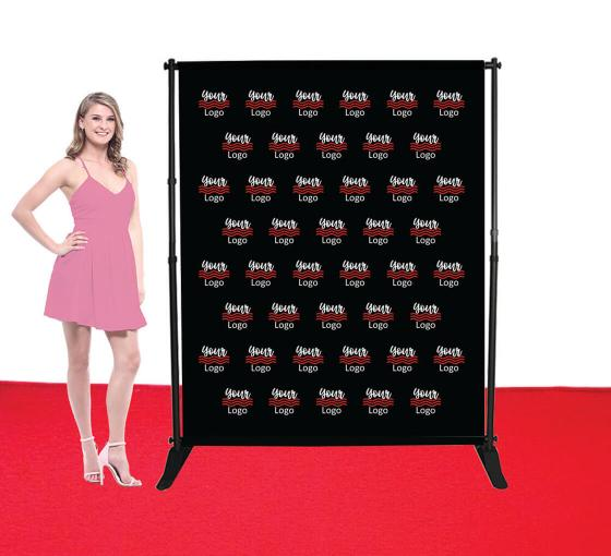5 ft x 6 ft Step and Repeat Adjustable Media Wall