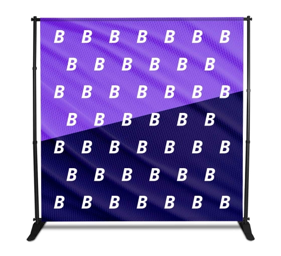 8x8 Fabric Media Wall - Step and Repeat Event Backdrops