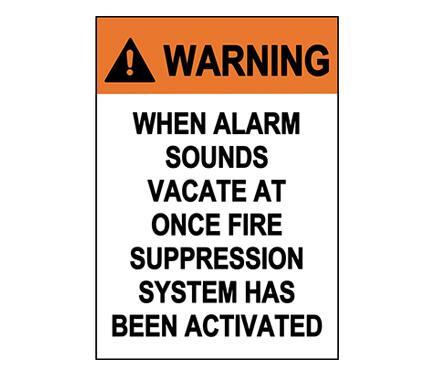 Vacate Premises Sign