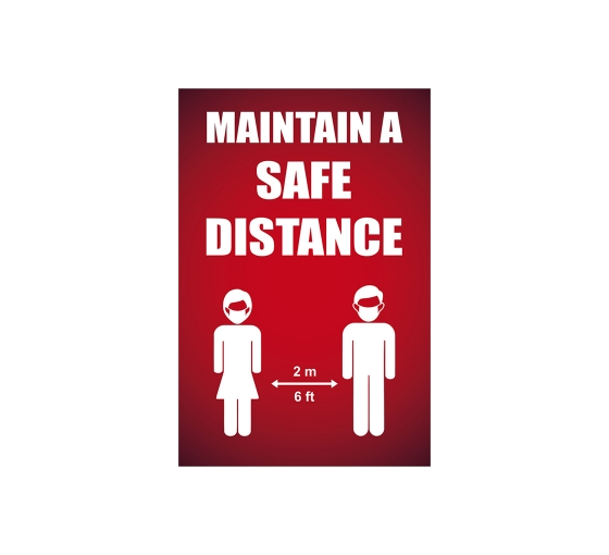 Maintain a Safe Distance Window Clings