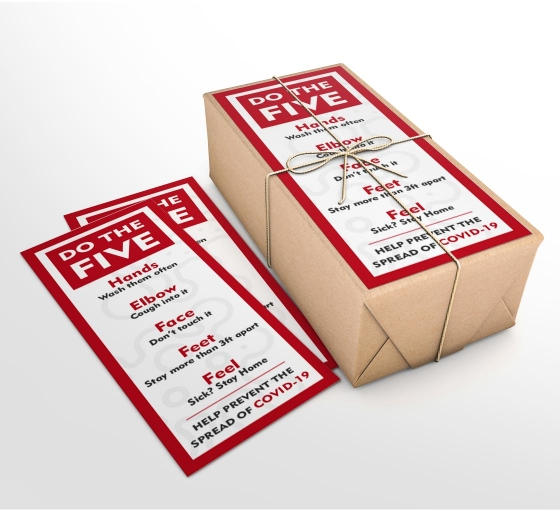 Do the Five Help Prevent Covid-19 Spread Business Flyers (Non folded)