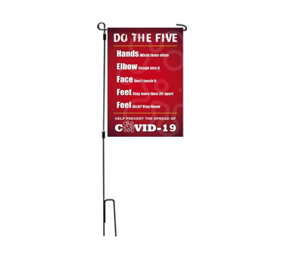 Do the Five Help Stop Spread Covid-19 Garden Flags