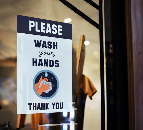 Please Wash your Hands Window Clings