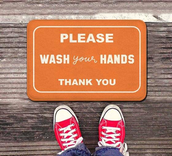 Please Wash your Hands Indoor Floor Mats