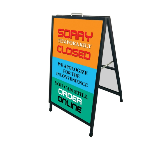 Sorry Temporarily Closed Order Online Metal Frames