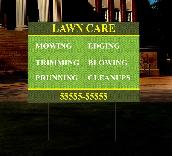 HIP Reflective Business Yard Signs
