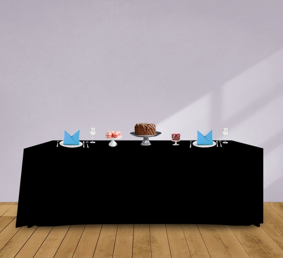 8' Convertible/Adjustable Table Covers - Black