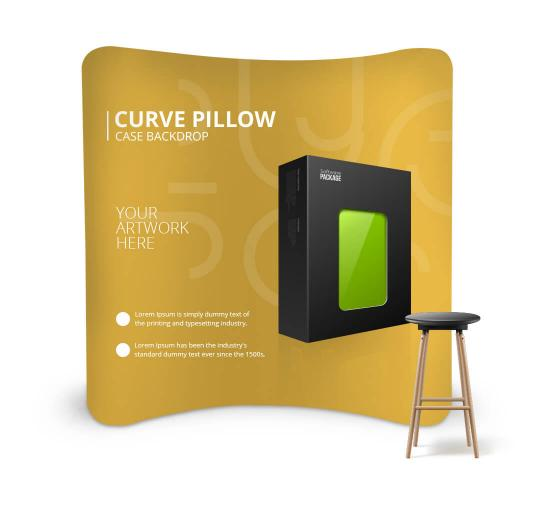 Curve Pillow Case Media Wall