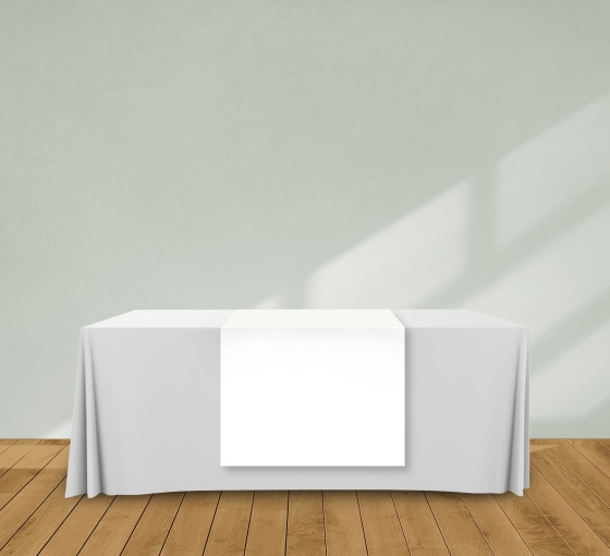 2.5' x 6' Table Runners - White