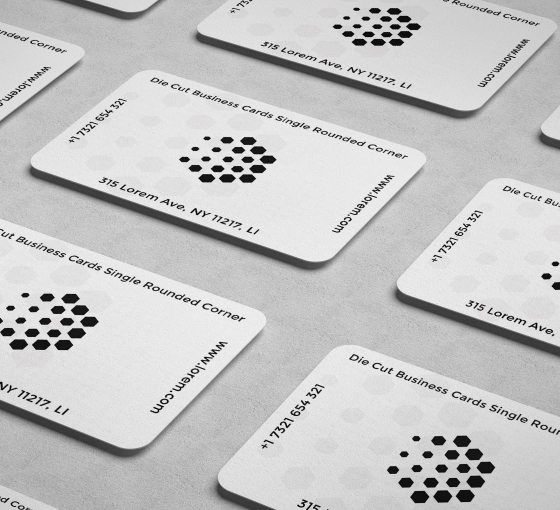 Rounded Corners Business Cards - Vertical