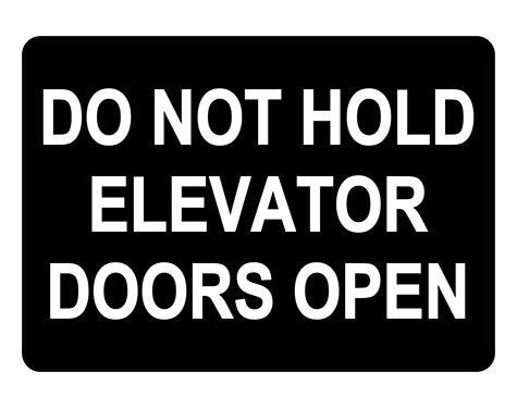 Elevator Doors Hazard Sign