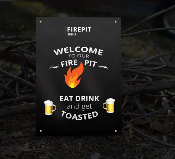 Reflective Firepit Signs
